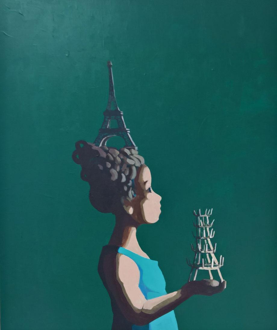 paris - Acryl auf Leinwand, 90x75cm, 2017