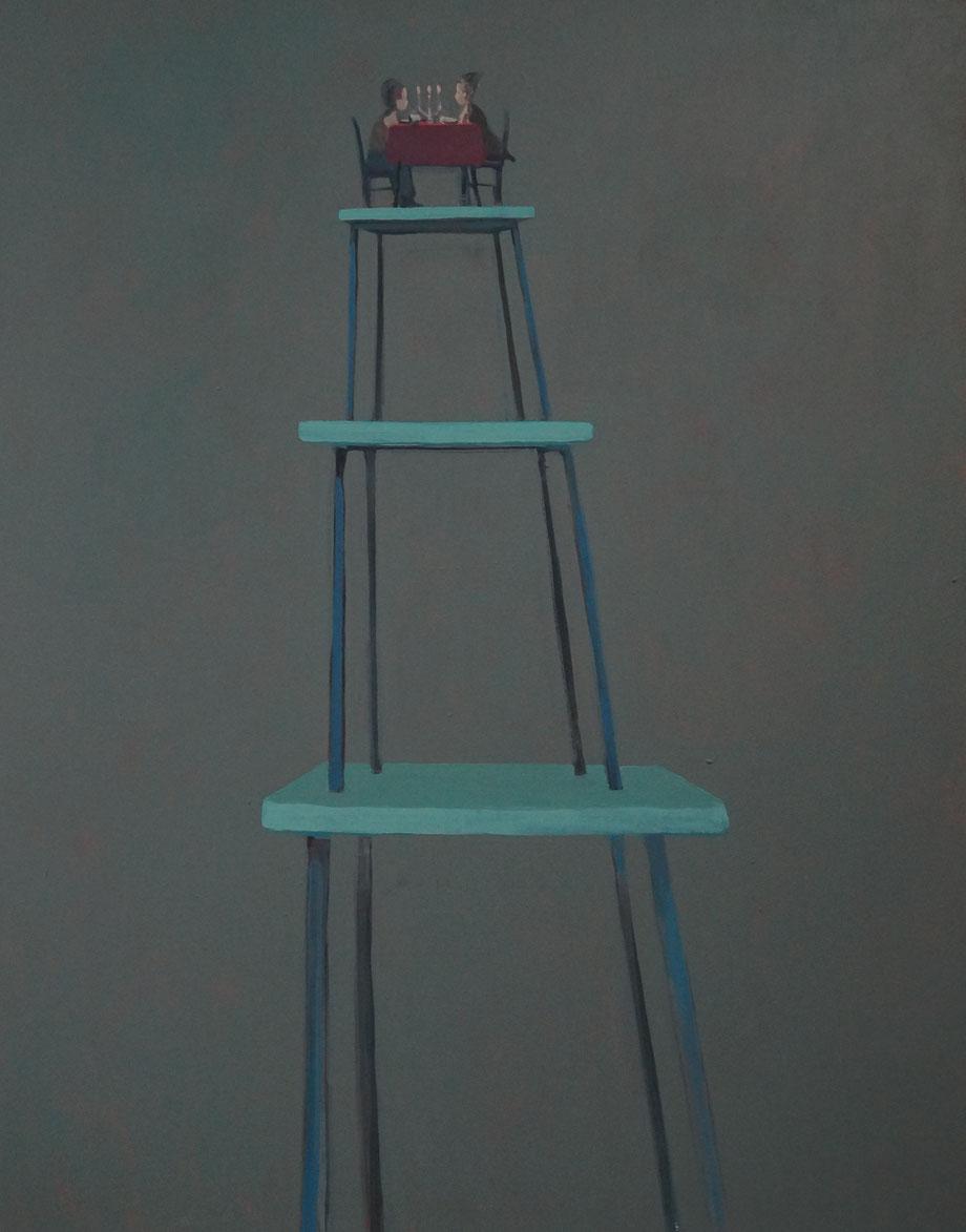 a tiny dinner - Acryl auf Leinwand, 110x90cm, 2014 | verkauft
