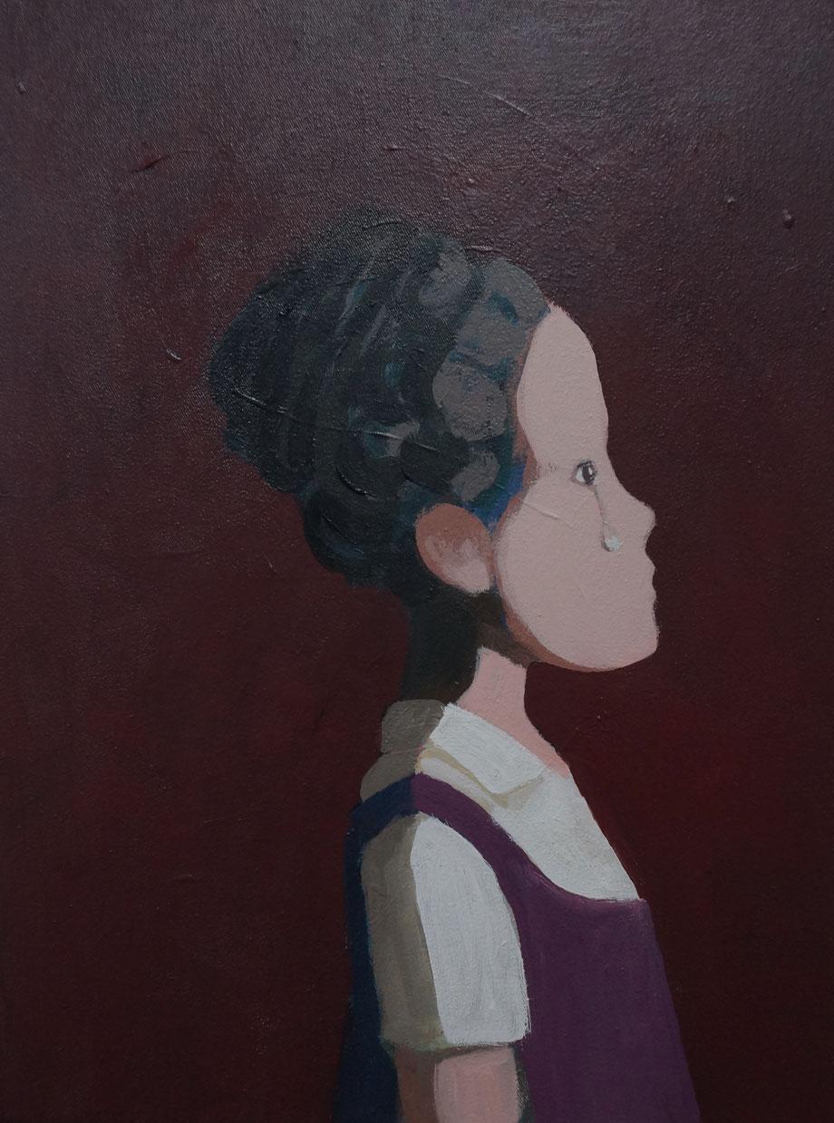 sad girl - Acryl auf Leinwand, 40x30cm, 2015