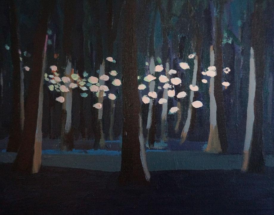 the forest - Acryl auf Leinwand, 24x30cm, 2016 | verkauft