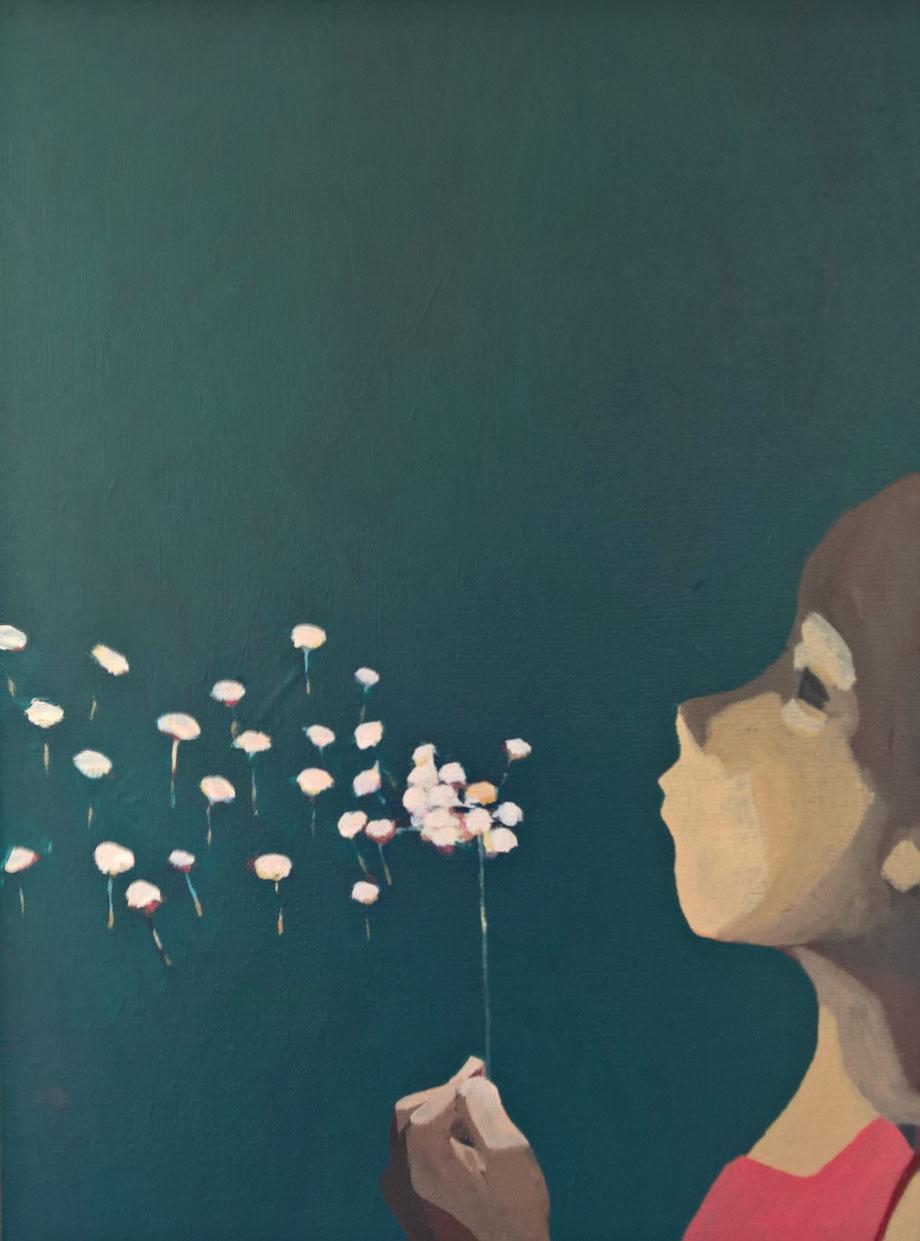 dandelion - Acryl auf Leinwand, 40x30cm, 2016 | verkauft