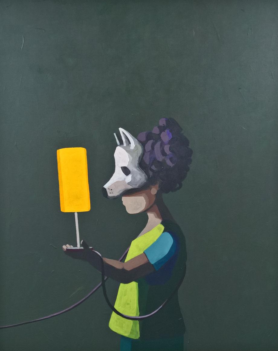 wolf - Acryl auf Leinwand, 110x90cm, 2017