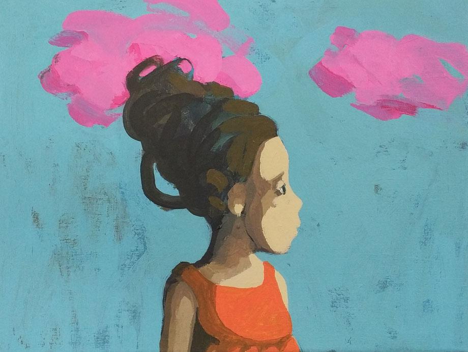 pink clouds - Acryl auf Leinwand, 30x40cm, 2018 | verkauft