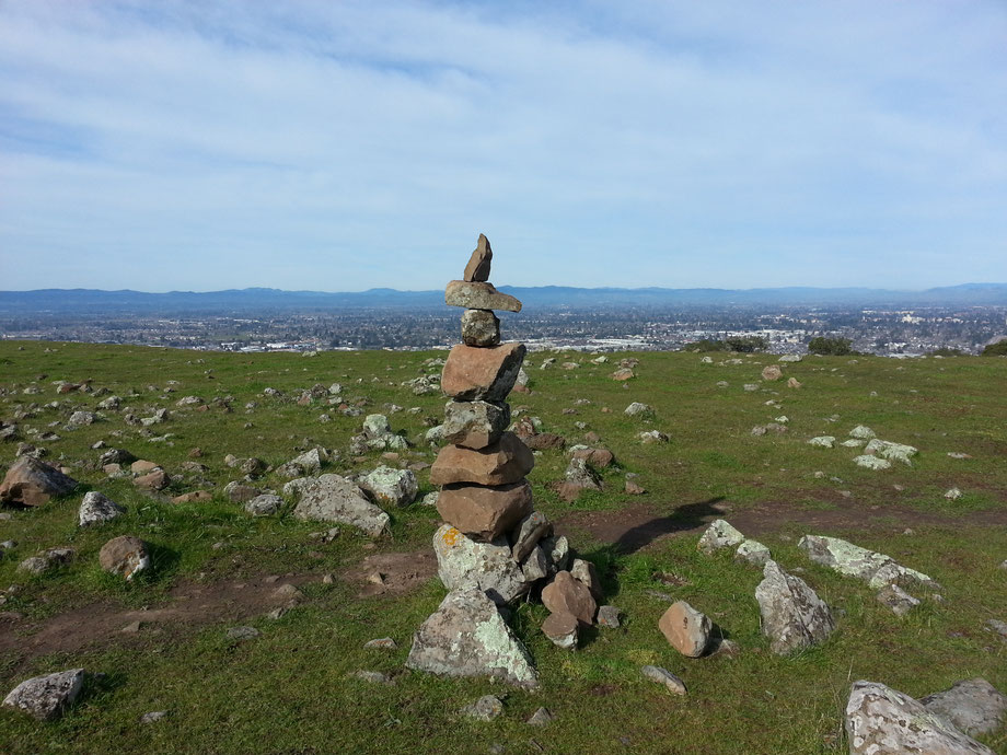 Cairn Ridge - Taylor Mountain, Santa Rosa, CA                                                                                                               unknown cairn builder
