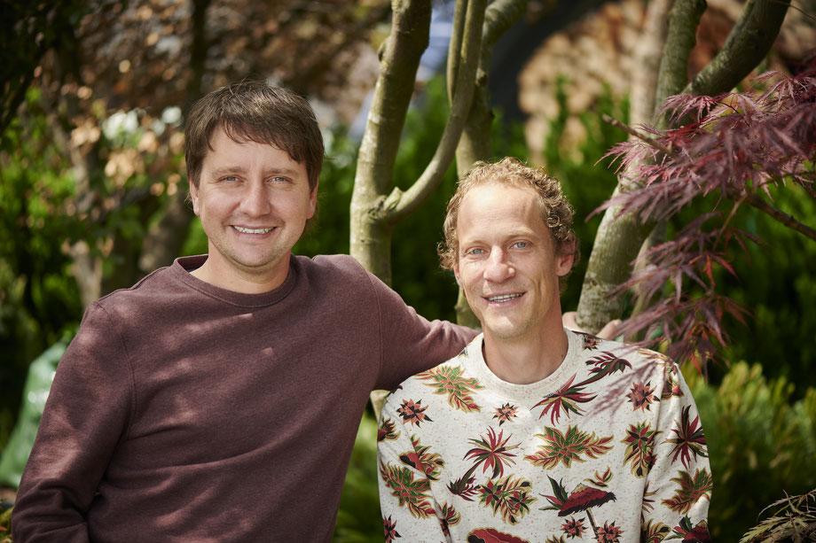 Mario Caretti mit seinem Partner David Schmid.