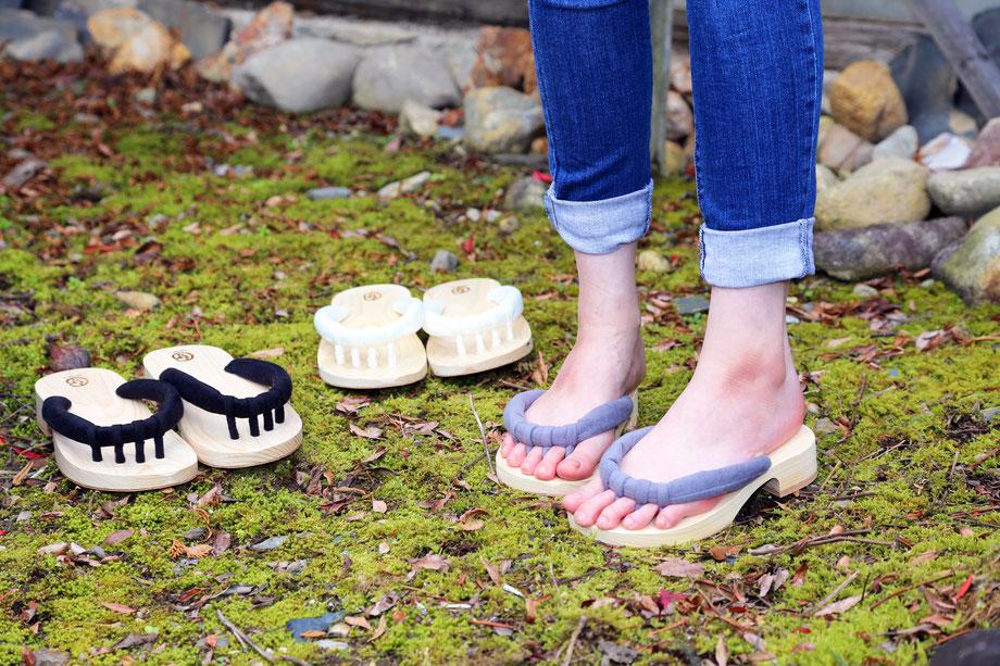 外履きのGETALS(ゲタル)は定番です 履いて気持ちいい 足指開放で足指運動がしやすい下駄 浮指対策に効果的な下駄 足指刺激のある下駄