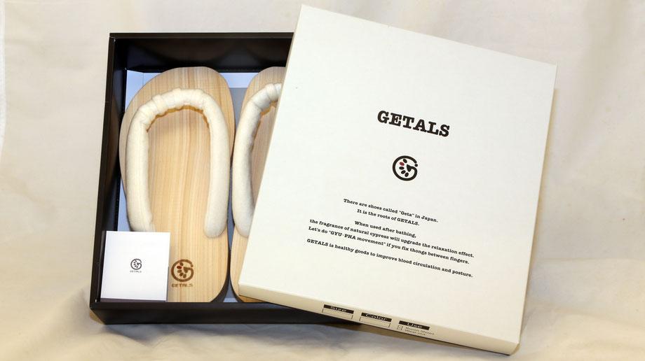 GETALS(ゲタル)は素敵なパッケージに包装されてお手元にお届けされます