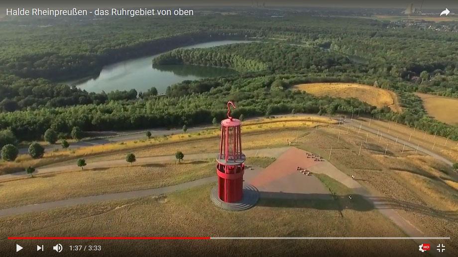Video von der Halde Rheinpreussen auf YouTube