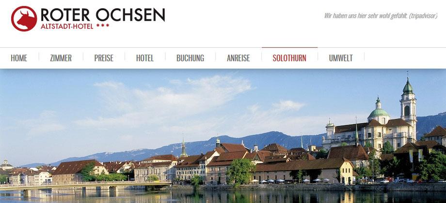 Gutes Hotel Altstadt Solothurn mit vernünftigen Preisen = PREISWERT!