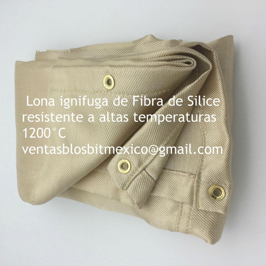 Lona ignifuga certificada (resistente a altas temperaturas).