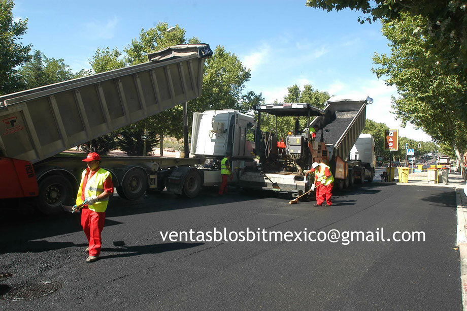 Lonas para camión de asfalto.