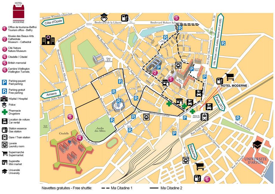 Informationen zur Innenstadt von Arras