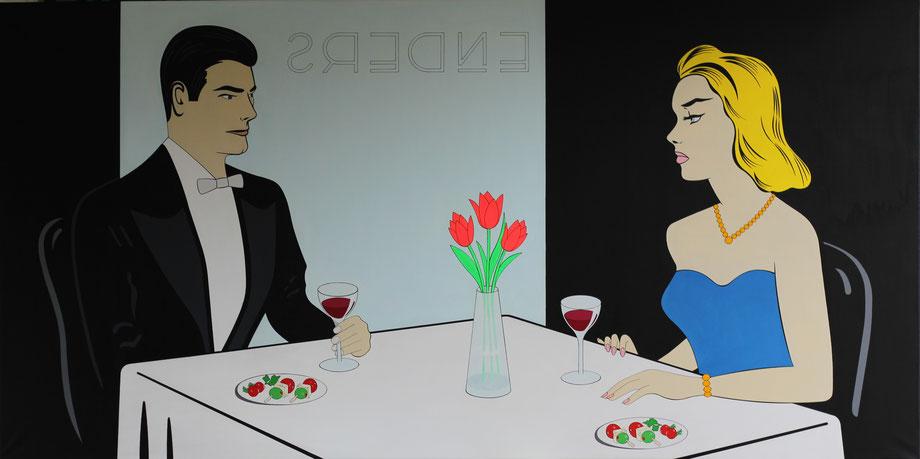 at the enders,  hängt im restaurant enders in berlin-pankow