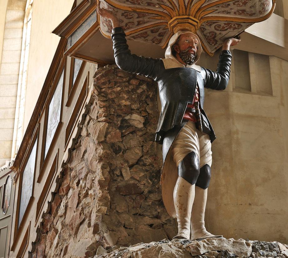 Bergmann als Kanzelträger in der St. Wolfgangkirche