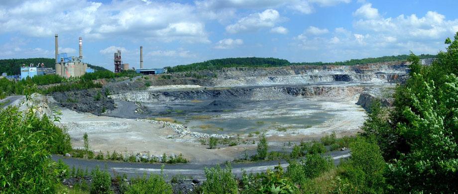 Kalkstein Tagebau Prachovice