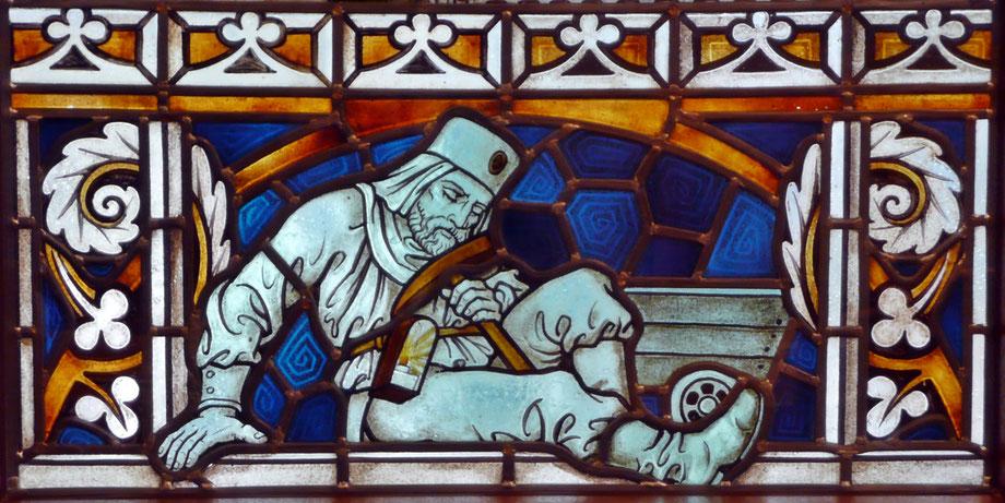 Fenstermotiv im Rathaus