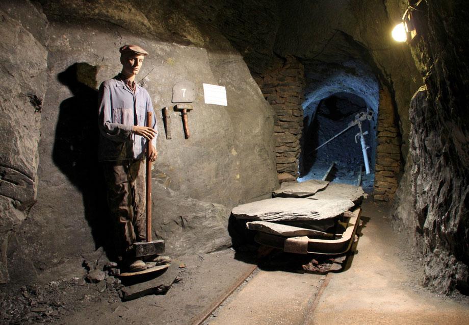 Strecke im Besucherbergwerk Grube Barbara