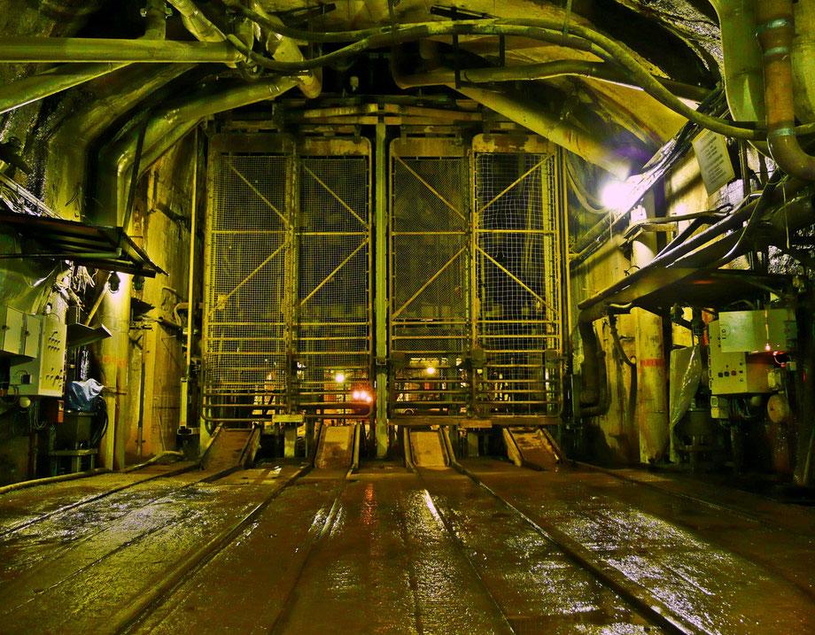 Füllort der 94-Meter-Sohle im ehemaligen WISMUT-Uranbergwerk