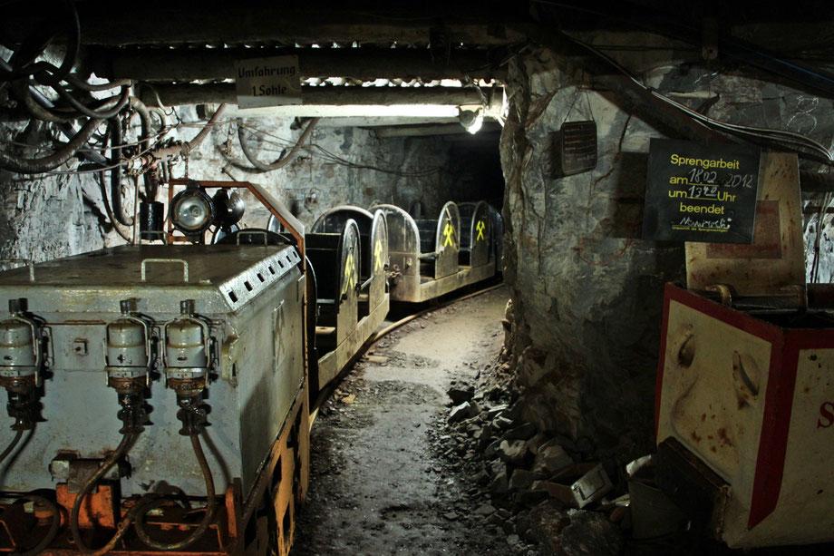 unterwegs mit der Grubenbahn