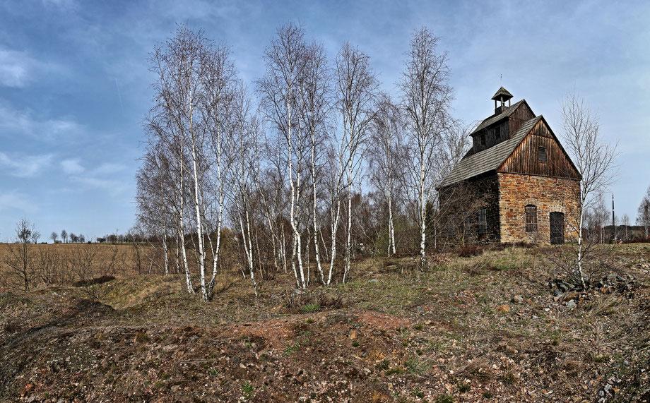 Halde und Treibehaus der Grube Oberes Neues Geschrei
