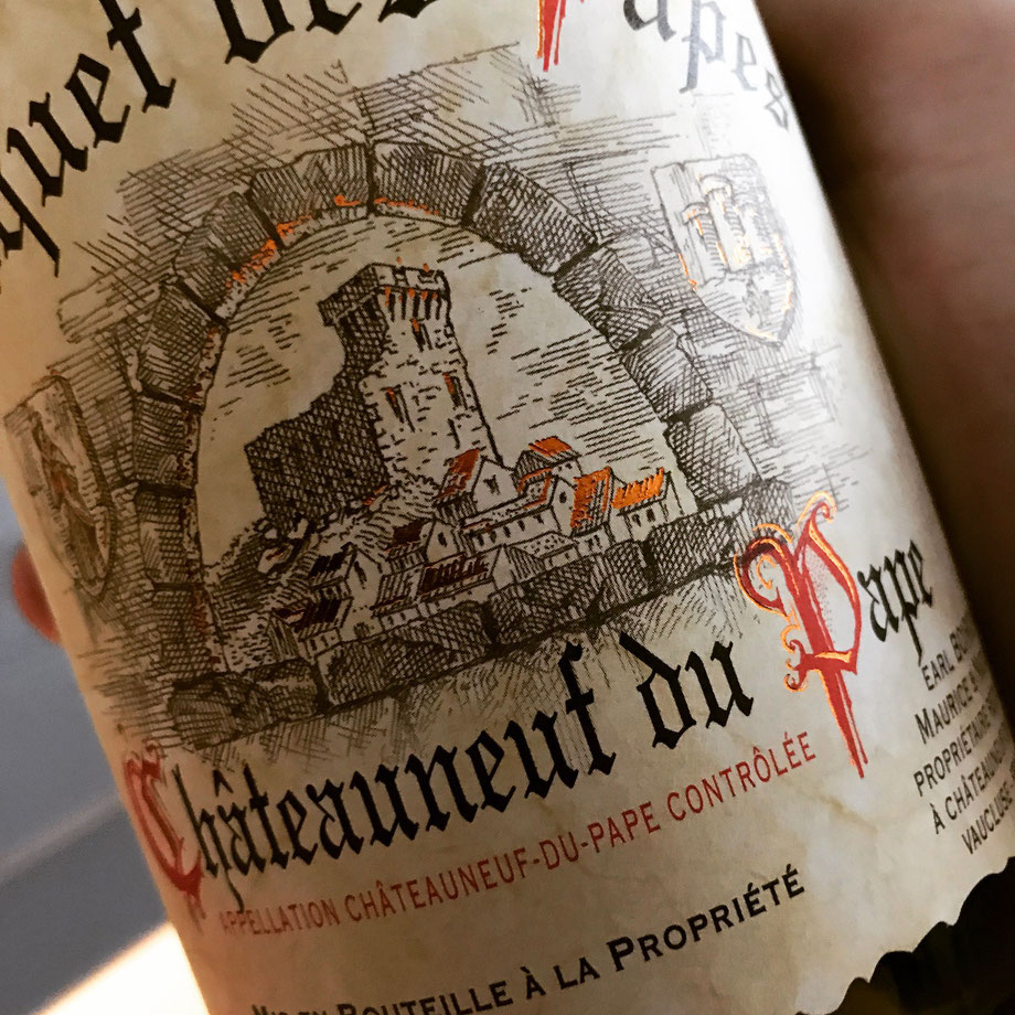 Great cold weather drinking - Chateauneuf du Pape