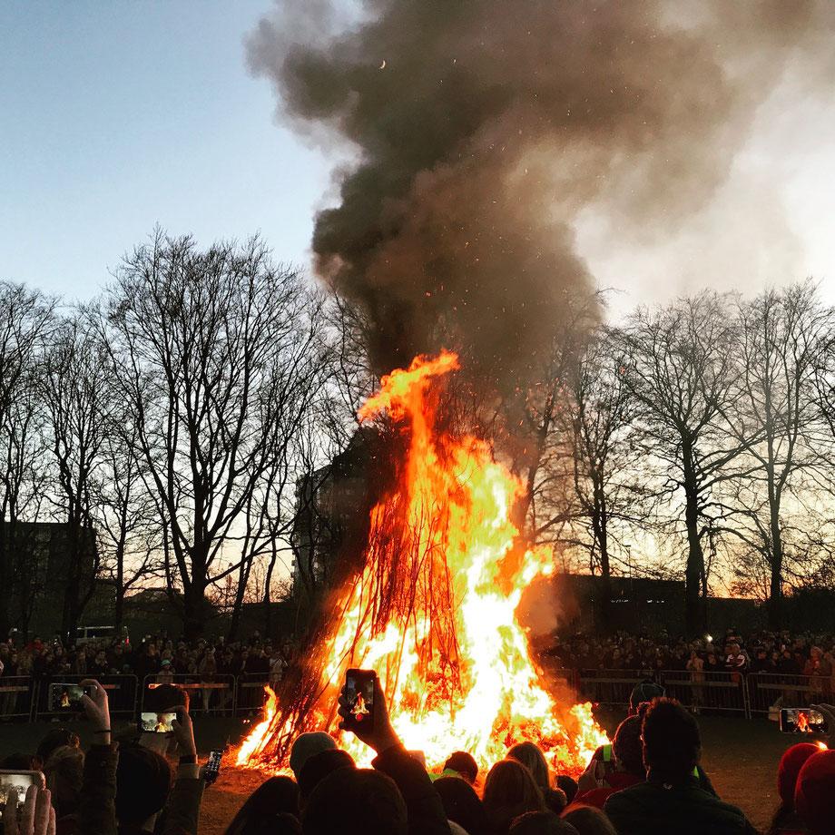 Valborg bonfire, Lund