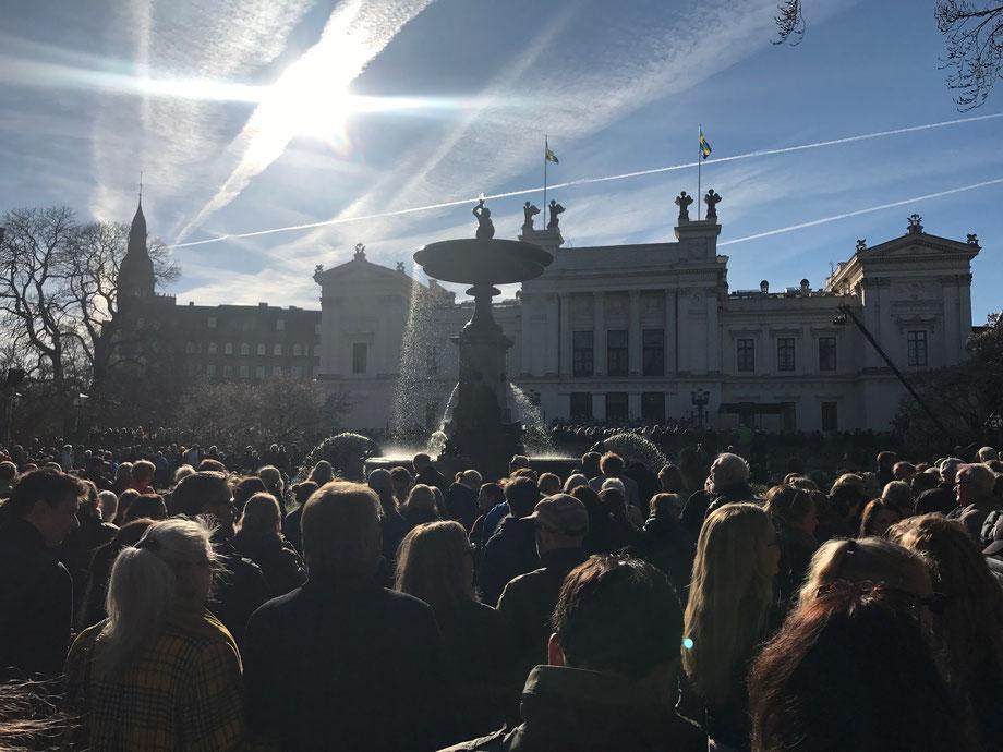 Lunds studentsångare hälsar våren