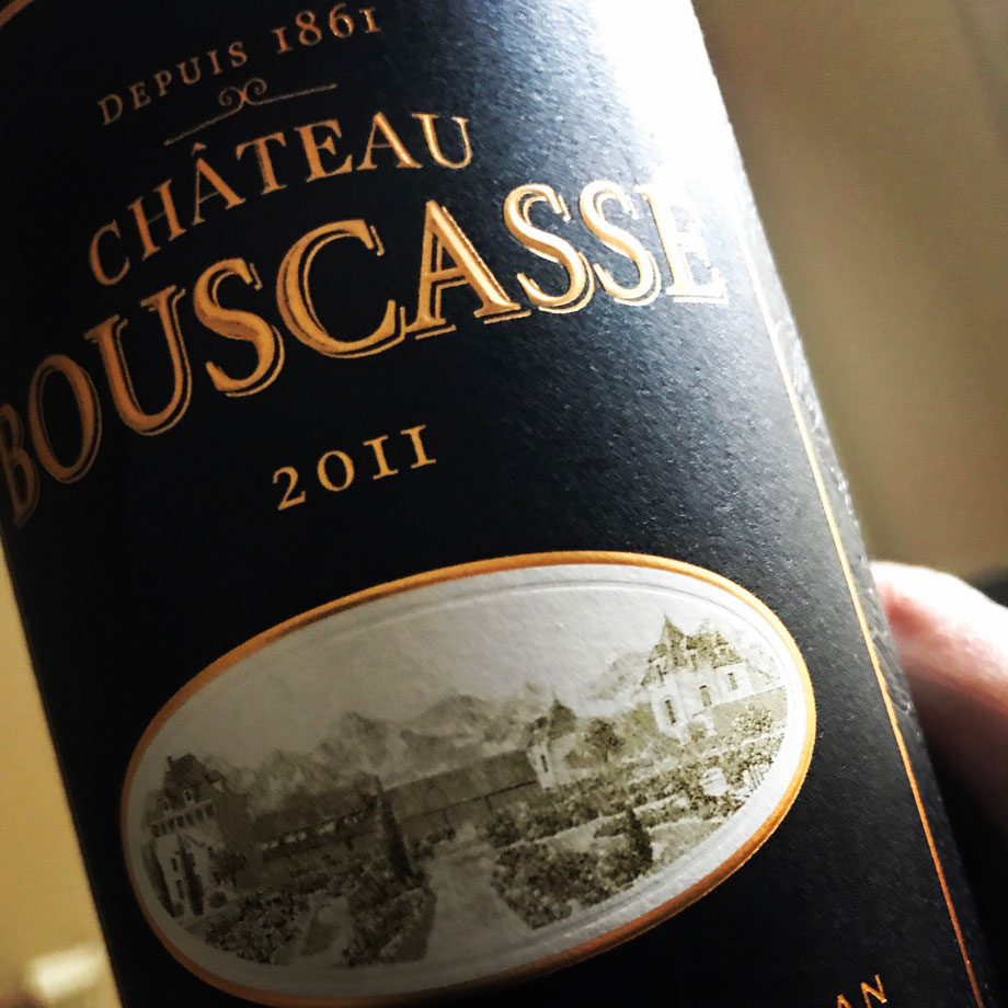 Great value Madiran made from Cab Sav, Cab Franc & Tannat - black cherry, smoky oak, herbs and dark chocolate nuances  bouscassé