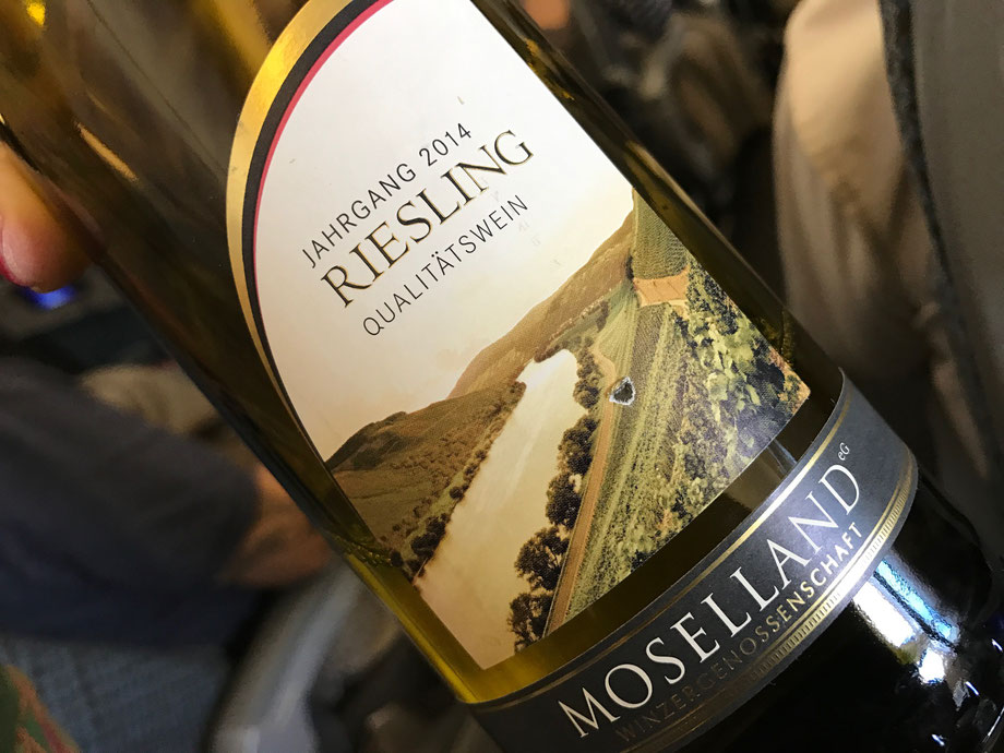 Wine of choice for dinner - German Moselland Riesling