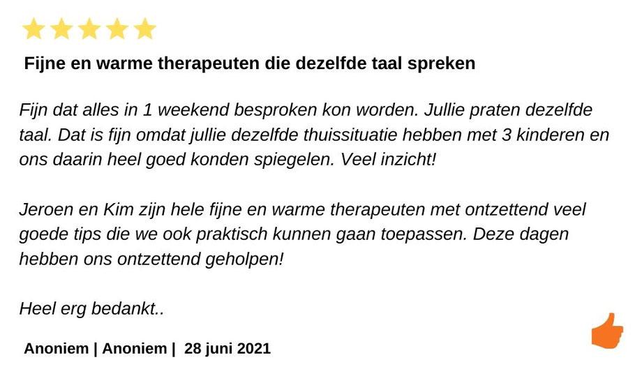 Relatieweekend Relatieretraite Reviews Jeroen en Kim Kromwijk-Lub
