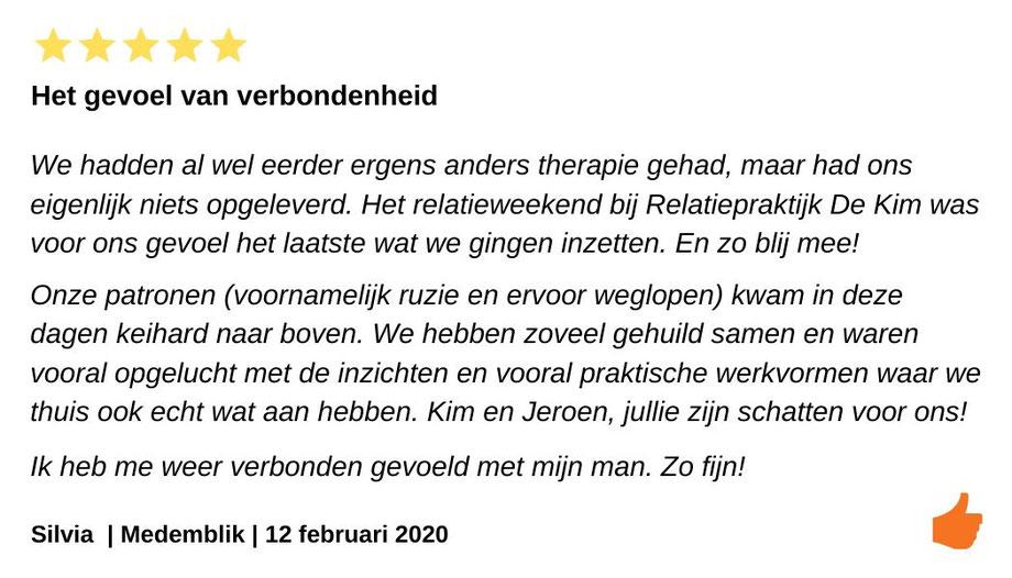 Review relatieweekend Medemblik. Jeroen en Kim Kromwijk hebben ons in het relatieweekend weer opnieuw in verbinding gebracht.