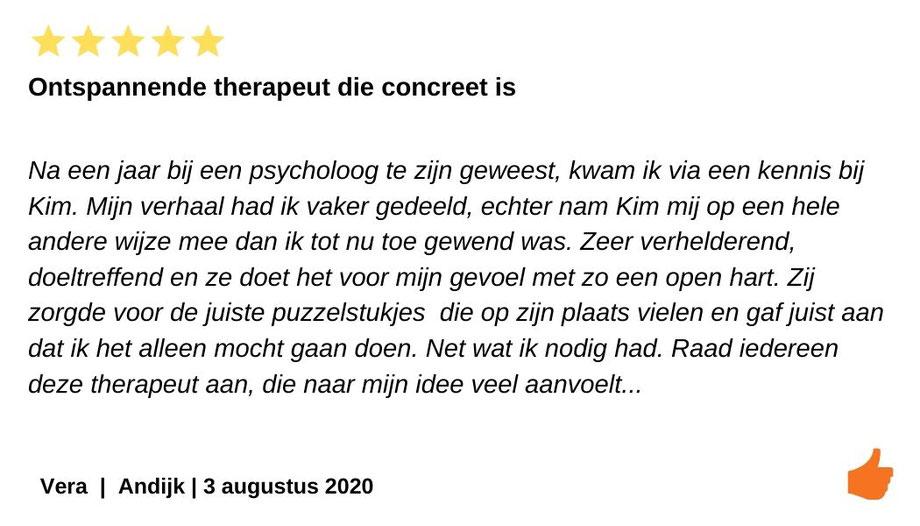 Kim Kromwijk is een ontspannende therapeut die goed aanvoelt wat je nodig hebt.