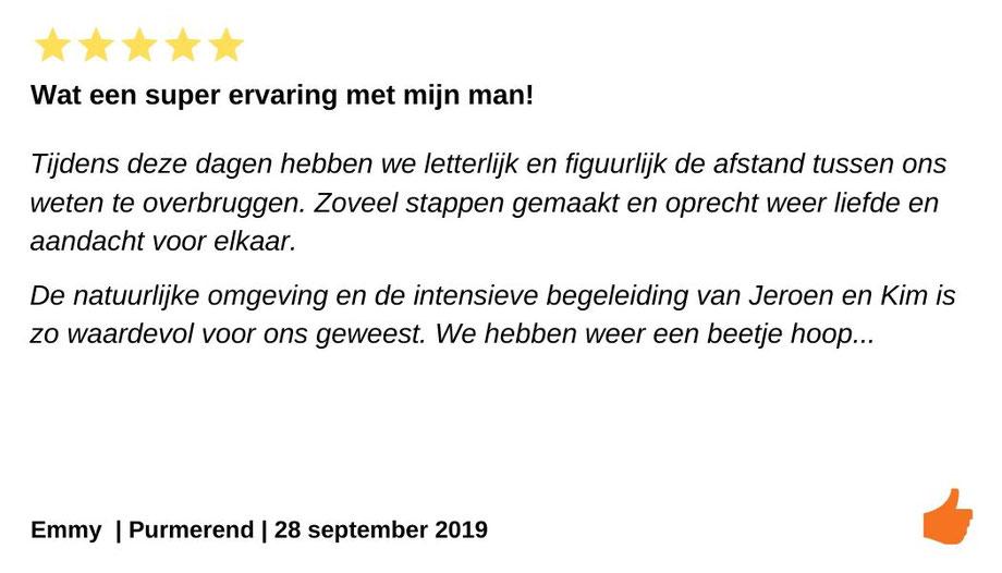 Review relatieweekend Purmerend.  Intense relatietherapie door Jeroen en Kim Kromwijk-Lub.