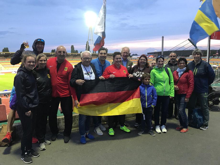 """ein Teil von meinem """"Wettkampf-Support-Team"""" bei der Para-EM 2018 - DANKE!"""