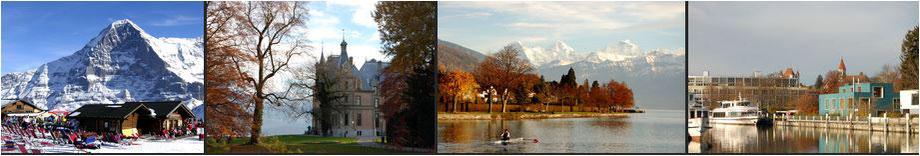 Schulferien und Ausflüge in der Schweiz in den Alpen zum Wintersport, am See und Fluss mit dem Schiff und Kanu