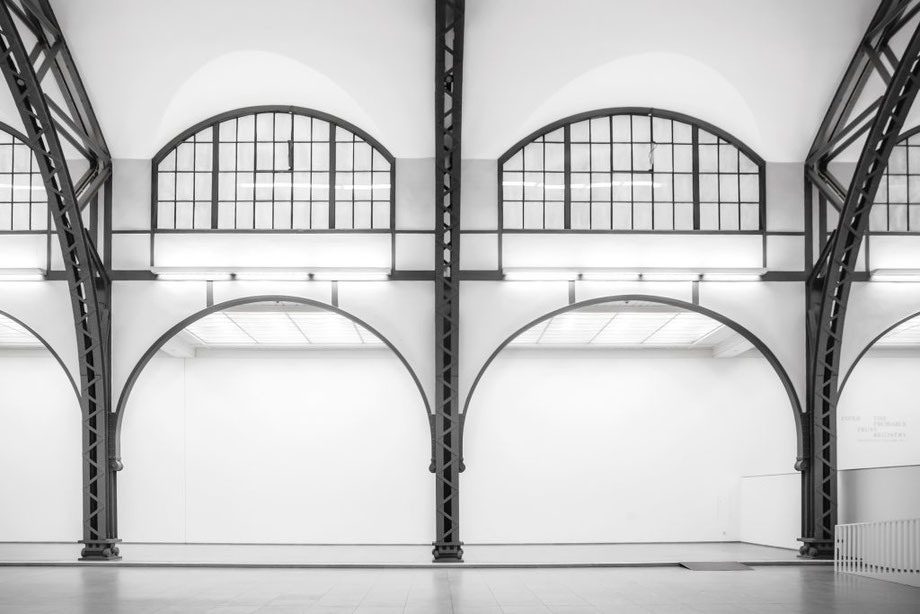 The old train station halls of the Hamburger Bahnhof now house the Museum für Gegenwart