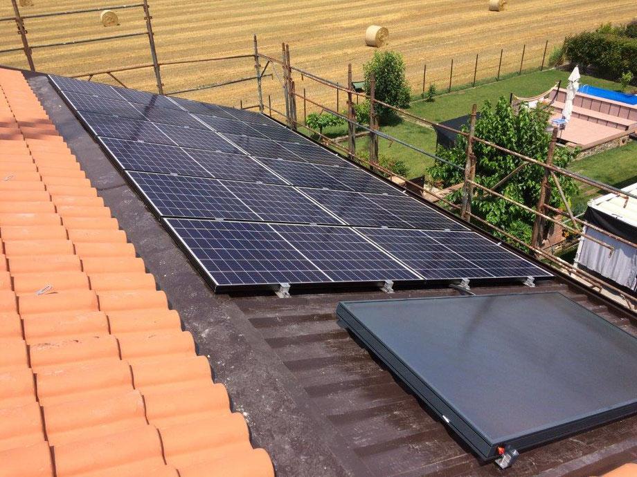 Villa CALLAGAN  impianto fotovoltaico e termosolare