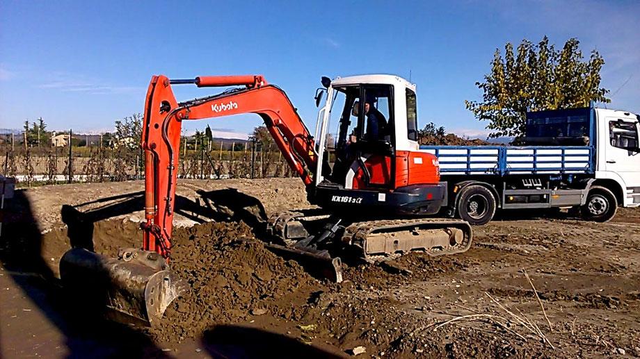 Inizio scavi villa