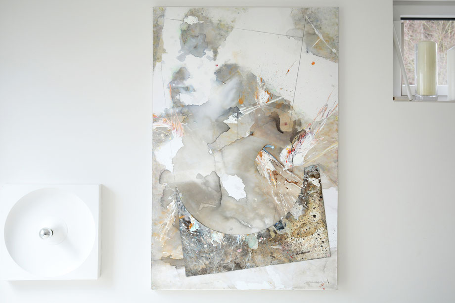 """Breakup"" 2017 • acrylic on paper & canvas • 100 cm x 170 cm"