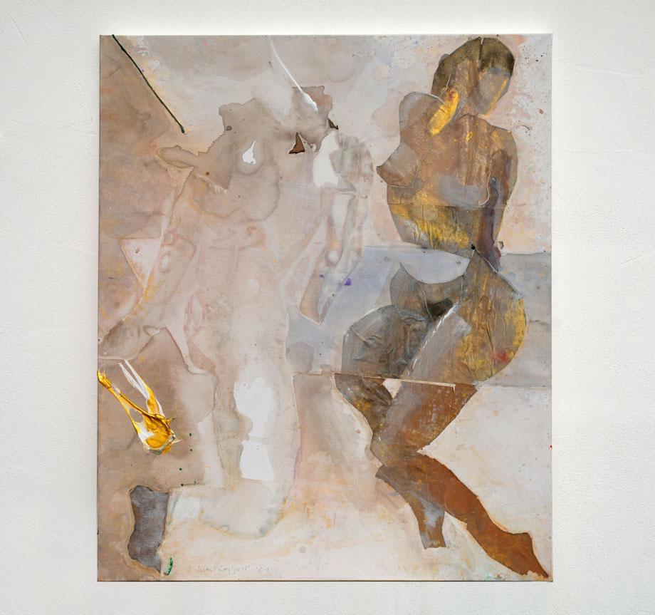 """Thunderstruck"" 2017 • acrylic on paper & canvas • 150 x 100 cm"
