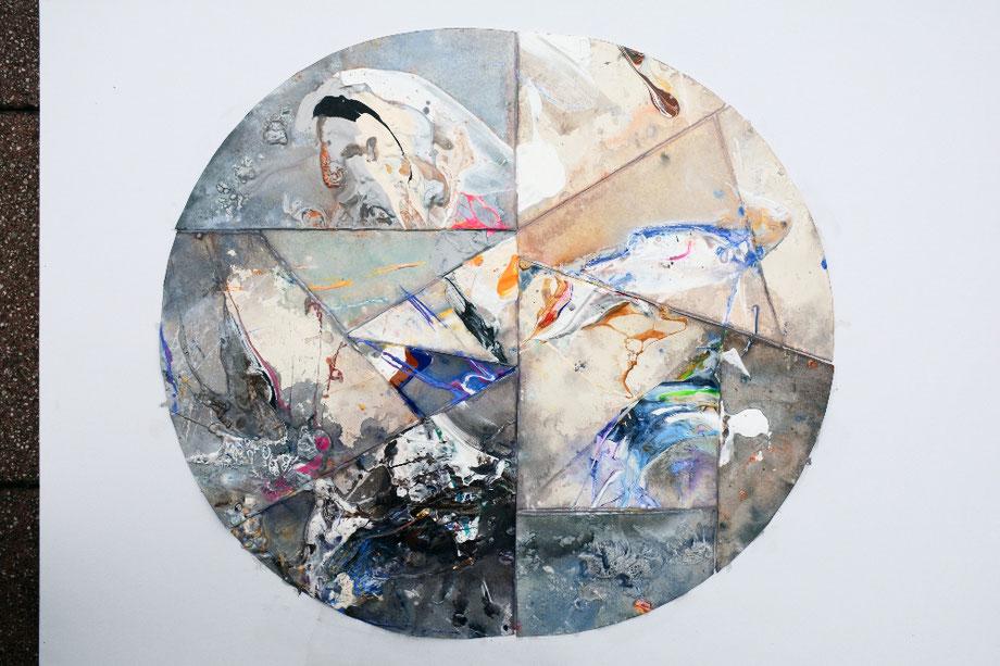 """Explosion"" 2012 • acrylic on paper • 100 cm x 70 cm"