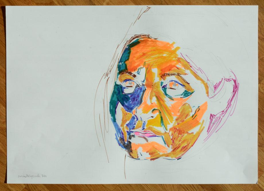 """Sina"" 2020 • colored pencil on paper • 40 x 30 cm"
