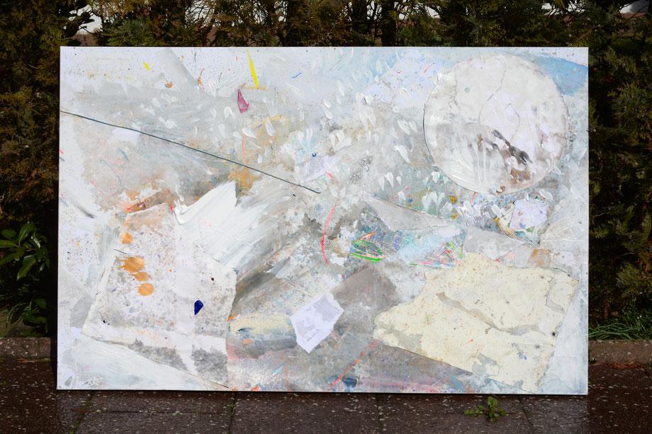 """The ice is broken"" 2019 • acrylic on paper & canvas • 150 cm x 100 cm"