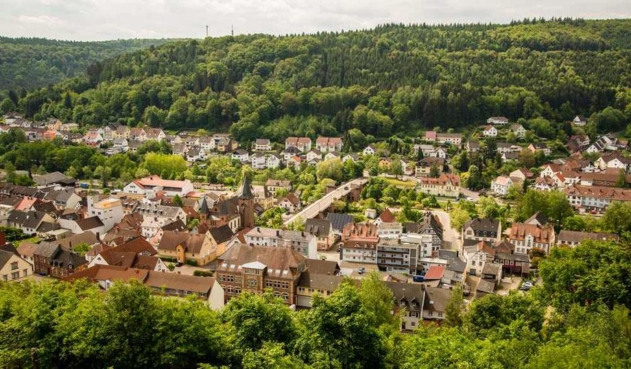 Blick auf Rodalben von der Kanzel - Bild (c) emil-pfalzauge.de