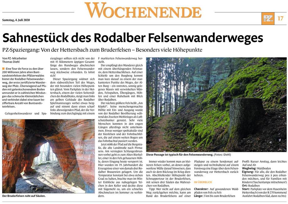 Quelle: Pirmasenser Zeitung 04.07.20