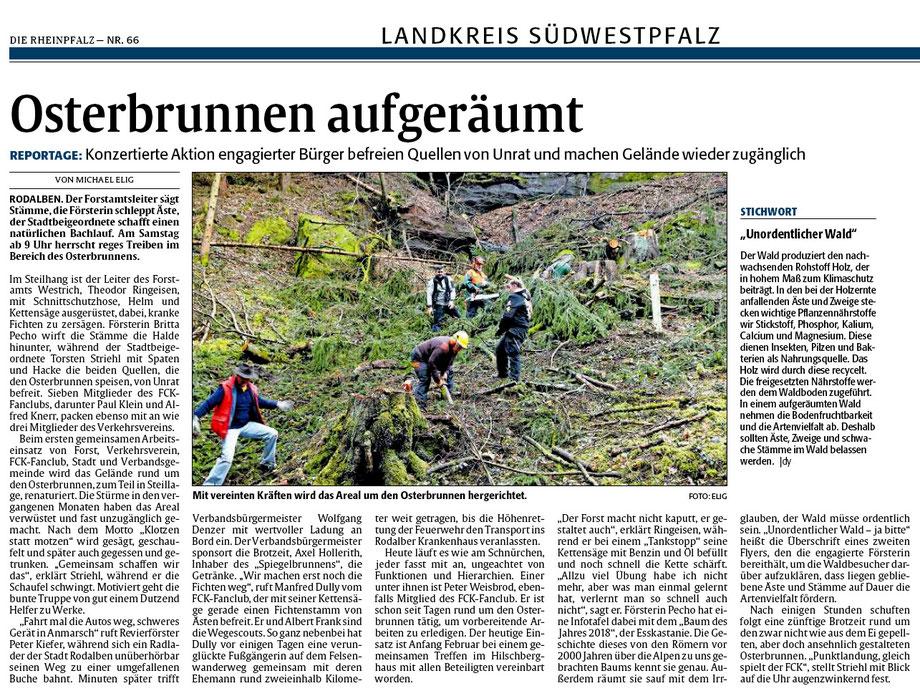 Quelle: Rheinpfalz Pirmasenser Nachrichten 19.03.2018