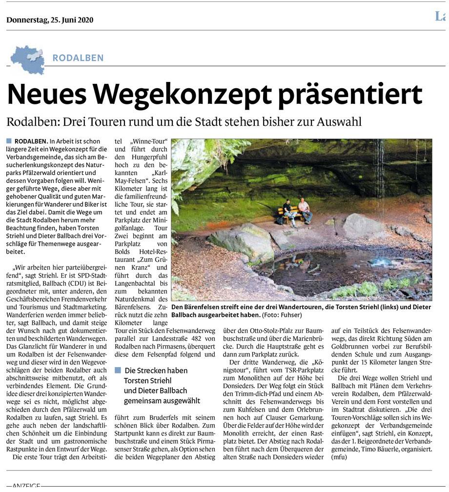 Quelle: Pirmasenser Zeitung 25.06.20