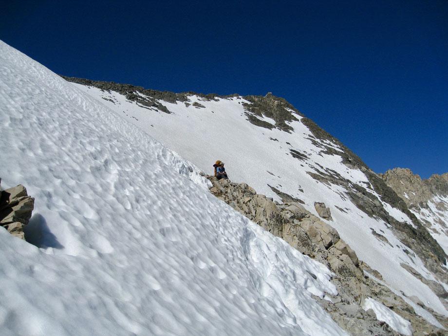 Aufstieg auf den Glen Pass von Rae Lakes kommend, Kings Canyon National Park