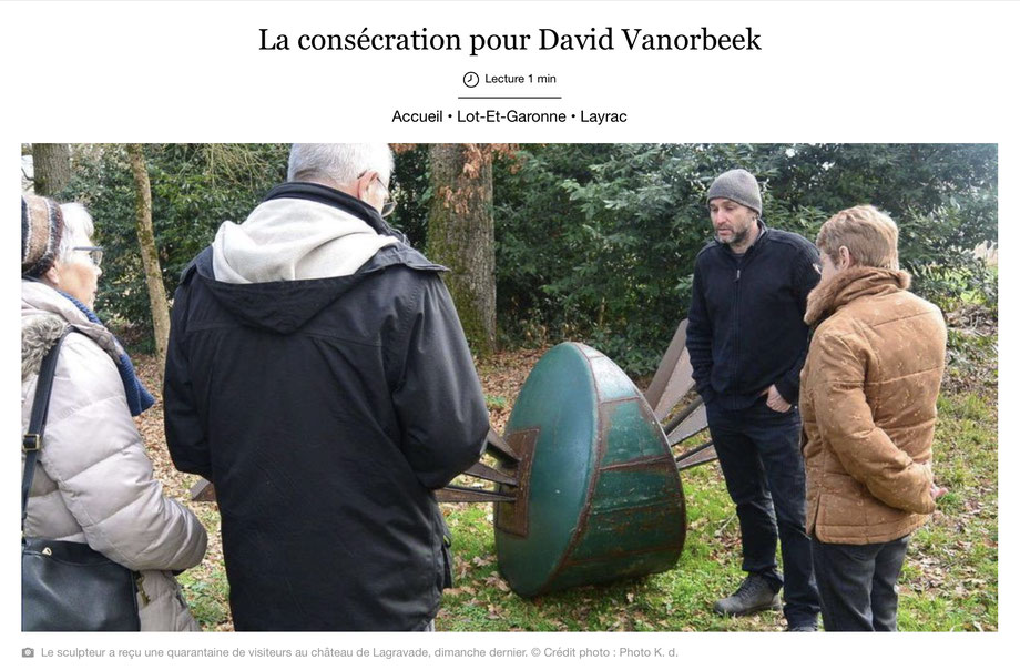 David Vanorbeek, exposition monumental metal art dans son Parc de Sculptures
