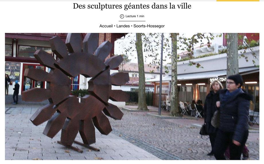 Des sculptures géantes dans la ville, David Vanorbeek, art monumentale
